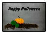 happy halloween pumpkin doormat