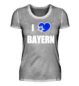 I Love Bayern Damen Shirts mit Herz