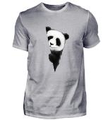 Panda Bär um die Ecke Pandabear Geschenk