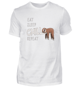 sloth eat sleep chill repeat funny gift