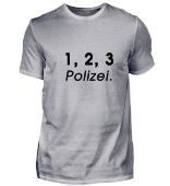 1, 2, 3 Polizei (Schrift schwarz)