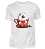 Katze in der Kaffeetasse - Comic -Kaffee