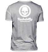 V-Neck T-Shirt MEN - WHITE LOGO