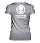 V-Neck T-Shirt WOMEN - WHITE LOGO