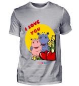 Valentinstag Liebe Geschenk Nilpferd Geschenkidee für Kinder und Erwachsene