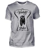 Vintage Biker - altes Fahrrad Fahrer
