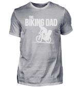 biking Dad Vater mit Kind Fahrrad fahren