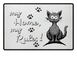 Cat Home Rules Fussmatte