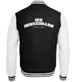 Die Denkedrans College Jacke Cover/Logo, white print