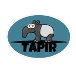 Lustiger Schabracken-Tapir Sticker