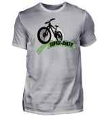 Fahrrad Super-Biker Superheld MTB