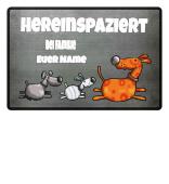 Hunde Fußmatte - Name individualisierbar