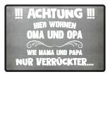 FUSSMATTE - Oma und Opa verrückt !!!