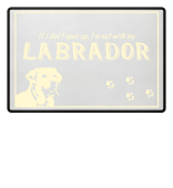 Funny doormat Labrador dog paw gift dogs