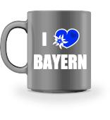 I Love Bayern Kaffee Tasse mit Herz