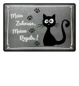 Katze - meine Regeln - Fußmatte