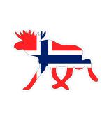Norwegen Norge Elch