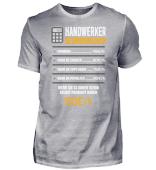 Handwerker Stundenlohn - Das Shirt