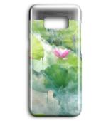 Lotusblume im Morgendunst edle Smartphone Handyhülle Case