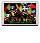 Horrorclown Welcome Fussmatte