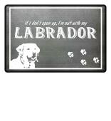 Funny doormat Labrador dog paw gift