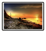 Ostsee Sonnenuntergang Fussmatte