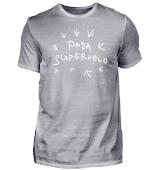Papa Superheld Partner-Shirt