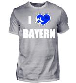 I Love Bayern Herren Shirts mit Herz