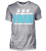 Frau & Snare Drums Schlagzeuger Tshirt
