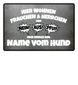 Hunde Fußmatte Frauchen & Herrchen von..