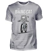 biking Cat Katze mit Fahrrad