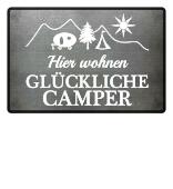 Camper-Fußmatte: Wir sind Campen!