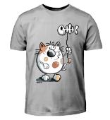 Katze mit Ballon - Fisch - Cat - Comic