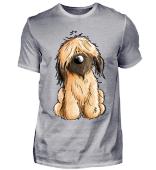 Happy Briard Oder Schafpudel Hund