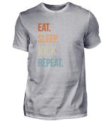 Eat Sleep Kick Repeat Retro Taekwondo