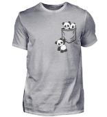 Pandabären in Tasche Kawaii Pandas in Pocket