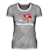 "Shirt-Kollektion Mohnblume ""Have a nice day"" Mohn Blüte rot"