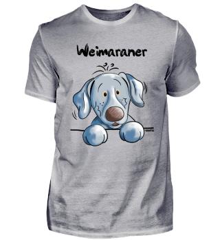 Lustiger Weimaraner - Hund - Comic - Dog