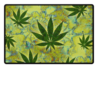 ★ Crazy Psychedelic CANNABIS leaves