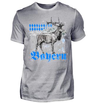 Bayern Trachten T-Shirt Hirsch