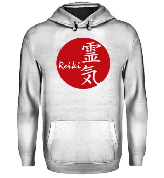 ★ Reiki Healing Energy Sign - red white