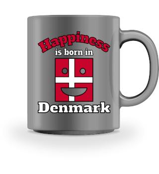 Glück kommt aus Dänemark Sprüche Tasse