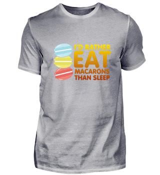 I'd Rather Eat Macarons Shirt Design