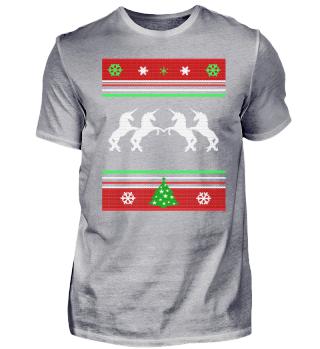Ugly Christmas Sweater Einhorn Weihnacht