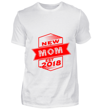 GIFT- NEW MOM EST 2018 RED