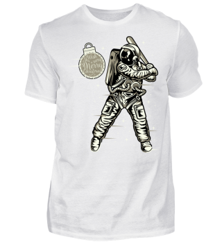 ★ Christmas Space Baseball Player I