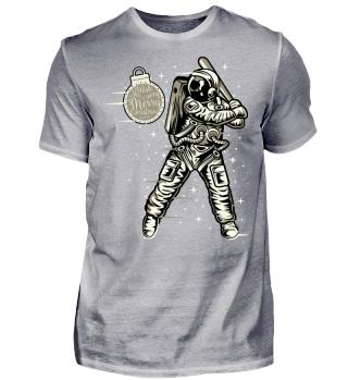 ★ Christmas Space Baseball Player I