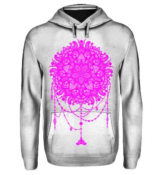 Dotwork Tattoo Mandala 5 - pink