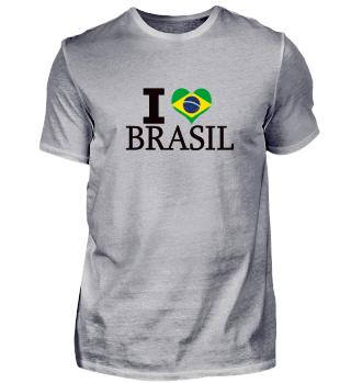 Cooles Brasilien I love Brasil Geschenk Shirt