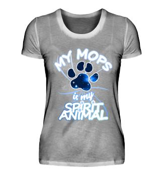 my Mops is my spirit animal Hunde Spruch